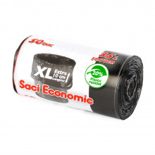 Saci menaj ECONOMIC 35 l. XL, negru, 50x70 cm., 50 buc./rola