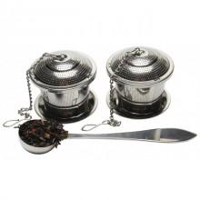 Set 2 capsule (infuzor) din inox KingHoff KH-1264, lingura masurare, diametru 5 cm