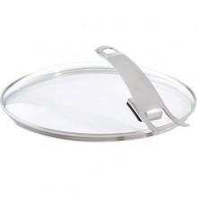 Capac sticla Fissler, diametru 26 cm, maner inox, rezista pana la 220°C, Seria Premium
