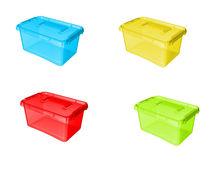 Cutii depozitare capac clips 4,5 L colorate