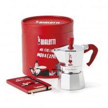 Espressor pentru aragaz si agenda in cutie cadou Bialetti, capacitate 3 cupe, Seria MokaLovers