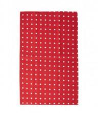 Prosop bucatarie, material bumbac, model cu puncte, culoare rosu