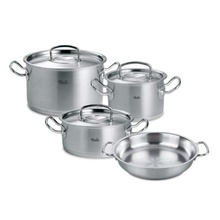 Set de oale din inox Fissler, 7 piese, seria Original Profi Collection, inductie, capac