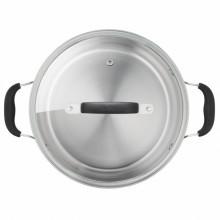 Set de oale din inox Tefal Cook & Cool G7155S14, 5 piese, inductie, interior gradat