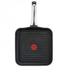 Tigaie grill cu interior anti-aderent Tefal Talent Pro, diametru 26 x 26 cm, inductie