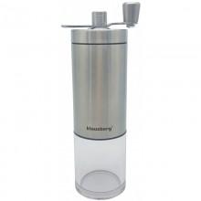 Rasnita pentru cafea Klausberg, mecanism ceramica, recipient plastic, maner rabatabil