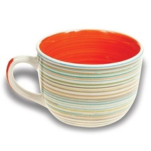 Cana mare din ceramica Nava, capacitate 500 ml, portocaliu