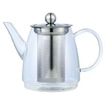Ceainic din sticla cu sita din inox KingHoff, capacitate 600 ml