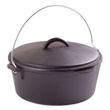 Ceaun (tuci) din fonta pura, capac, diametru 25 cm, capacitate 3.5 Litri, inductie