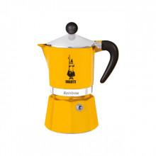 Espressor pentru aragaz Bialetti, capacitate 3 cupe, Seria Rainbow, galben