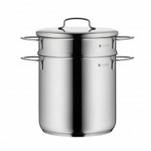 Oala inox WMF Mini pentru fiert paste, 3 litri, 18 cm, inductie, capac