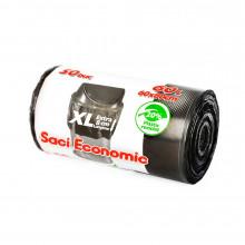 Saci menaj ECONOMIC, 60 l.XL , negru, 60x80 cm., 50 buc./rola
