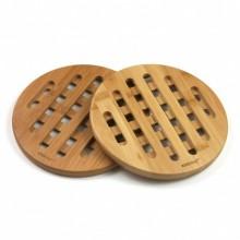 Set 2 suporturi pentru vase fierbinti KingHoff KH-1215, material bambus, forma rotunda