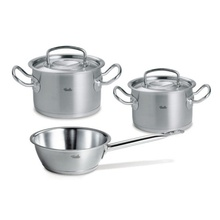 Set de oale din inox Fissler, 5 piese, seria Original Profi Collection, inductie, capac