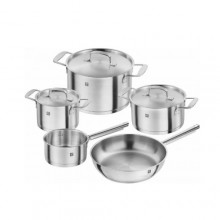 Set oale din inox Zwilling Base, 8 piese, inductie, capace