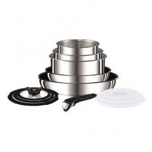 Set vase Tefal Ingenio Stainless Steel L9409042, 13 piese, inductie