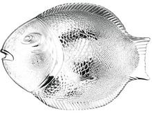 Platou servire forma peste 36x35cm Marine