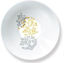 Bol pentru supa sau salata, motive florale, material portelan, diametru 16.5 cm, Colectia Nordic