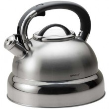 Ceainic din inox cu fluier KingHoff, capacitate 4 litri, inductie
