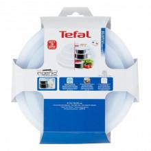 Set 3 capace TEFAL Ingenio L9019222, diametru 16, 18, 20 cm, plastic, alb