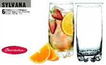 Set 6 pahare long drink 387ml Sylvana