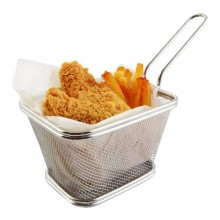 Cos pentru servire cartofi prajiti KingHoff KH-1266, material cromat