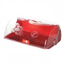 Cutie pentru paine, capac transparent, culoare rosu, colectia Avangarda