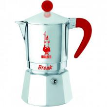 Espressor pentru aragaz Bialetti, capacitate 3 cupe, Seria Break, rosu