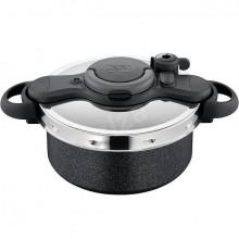 Oala sub presiune Tefal Clipso Minut Force, capacitate 5 litri, diametru 24 cm, negru, inductie
