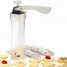 Presa pentru biscuiti si fursecuri Perfect Home, material inox, include 20 forme