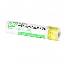 Pungi biodegradabile, 35x25 cm, 200 buc/rola, 3 Litri