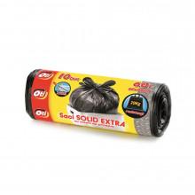 Saci menaj SOLID EXTRA, 60 l., negru, 60x80 cm., 10 buc./rola