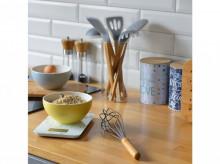 Spatula forma ovala, material silicon, maner din bambus, design minimalist, Colectia Nordic