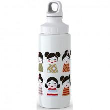 Sticla termos pentru copii TEFAL Licht Steel Geisha K3194612, 0.6 litri, inox, alb