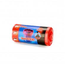 Saci menaj SOLID 20 l., rosu, 44x50 cm., 50 buc./rola