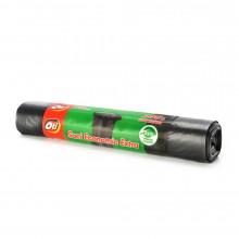 Saci menaj ECONOMIC EXTRA, 240 l., negru, 120x125 cm., 10 buc./rola