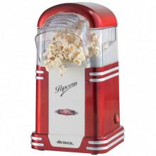 Aparat pentru popcorn Ariete 2954, putere 1100 W, 60 gr, design retro, rosu
