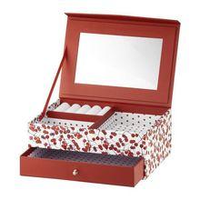 Cutie de bijuterii cu oglinda si sertar 20x14x8cm holly Look