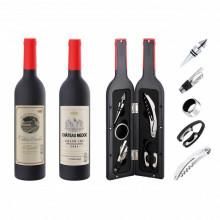 Set accesorii si desfacator pentru vin Peterhof PH-12878S, 6 piese