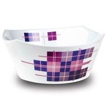 Bol adanc pentru salata Nava, portelan, diametru 23,8 cm, seria Carreaux