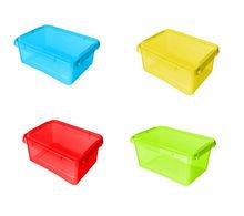 Cutii depozitare capac clips 8,5 L colorate