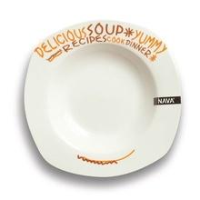 Farfurie pentru supa Nava, portelan, diametru 23 cm, seria Funky