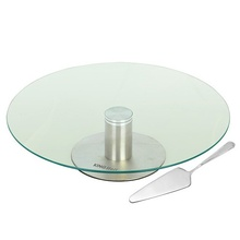 Platou rotativ pentru prajituri KingHoff, diametru 30 cm