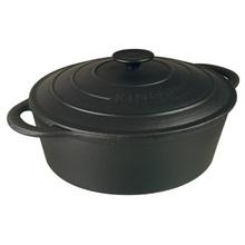 Roaster din fonta pura KingHoff, capacitate 3.9 litri, diametru 28 cm, capac fonta, manere fonta, inductie