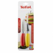 Set 2 cutite pentru legume & fructe Tefal Fresh Kitchen K0612314, lama zimtata din inox, rosu/galben