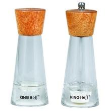 Set rasnita si solnita KingHoff, lemn si plastic, mecanism ceramica