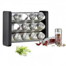Stand cu recipiente pentru condimente Kuchenprofi, 13 piese, montare pe perete