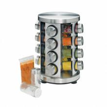 Stand cu recipiente pentru condimente Kuchenprofi, 17 piese, suport rotativ, inox