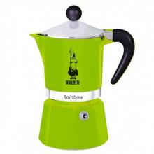 Espressor pentru aragaz Bialetti, capacitate 3 cupe, Seria Rainbow, verde