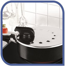 Capac din inox Tefal Ingenio, diametru 20-28 cm, maner rabatabil, compatibil cu vasele din gama Ingenio. Cod produs: L9939822